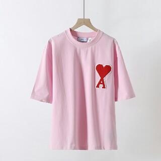 アクネ(ACNE)のAMI ALEXANDRE MATTIUSSI Tシャツ M ピンク(Tシャツ/カットソー(半袖/袖なし))