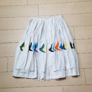 ミナペルホネン(mina perhonen)のミナペルホネン ランドリー bird スカート 36(その他)