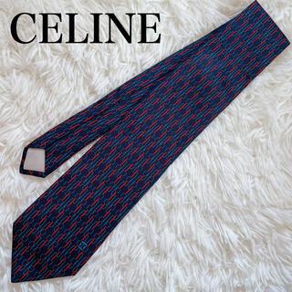 celine - 極美品 セリーヌ ネクタイ 高級シルク ストライプ柄 総柄 人気柄 人気色