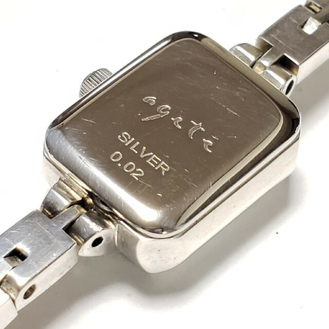 agete(アガット)の☆アガット☆シルバー☆ジュエリーウォッチ☆ダイヤモンド☆シェル文字盤☆ レディースのファッション小物(腕時計)の商品写真
