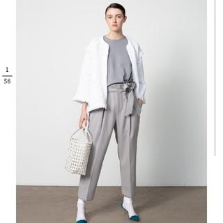 Drawer - ドゥロワー フリンジニットジャケット ホワイト 新品