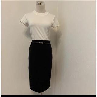 ナラカミーチェ(NARACAMICIE)のナラカミーチェ ブラックタイトスカート サイズ0 細ベルト付き(ひざ丈スカート)