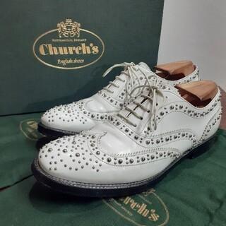 チャーチ(Church's)の[美品] 付属あり チャーチ   レディース スタッズ バーウッド(ローファー/革靴)