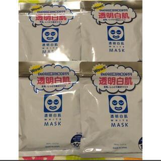 新品 透明白肌 ホワイトマスクN 10枚入り 4袋セット(パック/フェイスマスク)