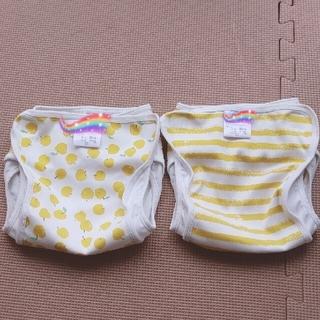 ニシマツヤ(西松屋)のpomuu様専用 布おむつカバー 80 セット(ベビーおむつカバー)