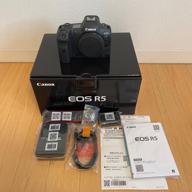 Canon(キヤノン)のCanon EOS R5 備品類未開封 スマホ/家電/カメラのカメラ(ミラーレス一眼)の商品写真