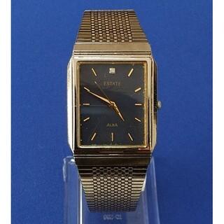 セイコー(SEIKO)のSEIKO セイコー 腕時計  アルバ ALBA ゴールドブラックスクエア(腕時計(アナログ))