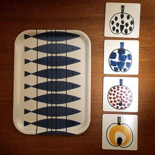 アルメダールス(Almedahls)のアルメダールスのミニトレイとコースター4枚(食器)