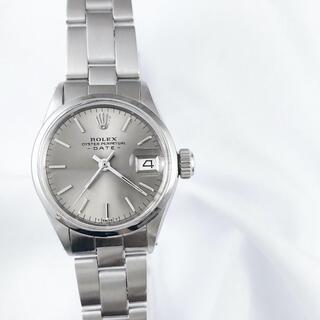 ロレックス(ROLEX)の【仕上済/ベルト2種】ロレックス オイスター グレー文字盤 レディース 腕時計(腕時計)