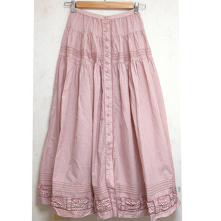 カネコイサオ(KANEKO ISAO)のカネコイサオ ワンダフルワールド チェック柄 スカート(ロングスカート)