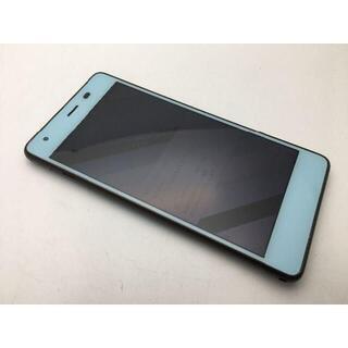 キョウセラ(京セラ)のSIMフリー美品au Qua phone QZ KYV44 チョコミント 469(スマートフォン本体)