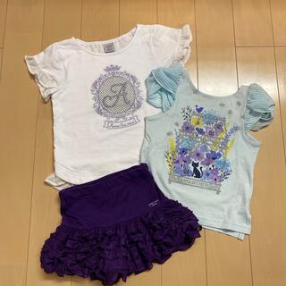 アナスイミニ(ANNA SUI mini)のANNA SUImini 100.110【美品】♡3点セット♡(Tシャツ/カットソー)