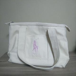 POLO RALPH LAUREN - ポロラルフローレン ピンク×ホワイト ビッグトートバッグ