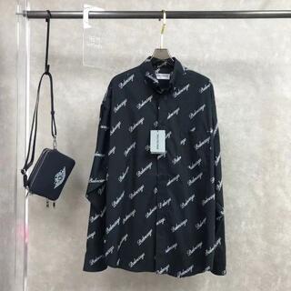 Balenciaga - BALENCIAGA::オールオーバーロゴプリントシャツ
