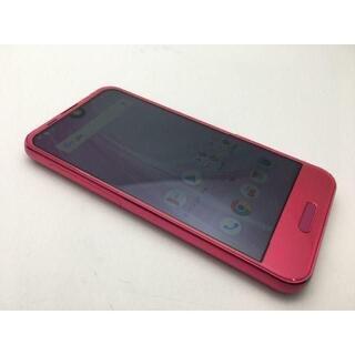 シャープ(SHARP)のSIMフリー美品au AQUOS R compact SHV41ピンク335(スマートフォン本体)