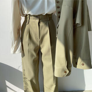 TODAYFUL - nokcha    straight long pants/pistàcchio