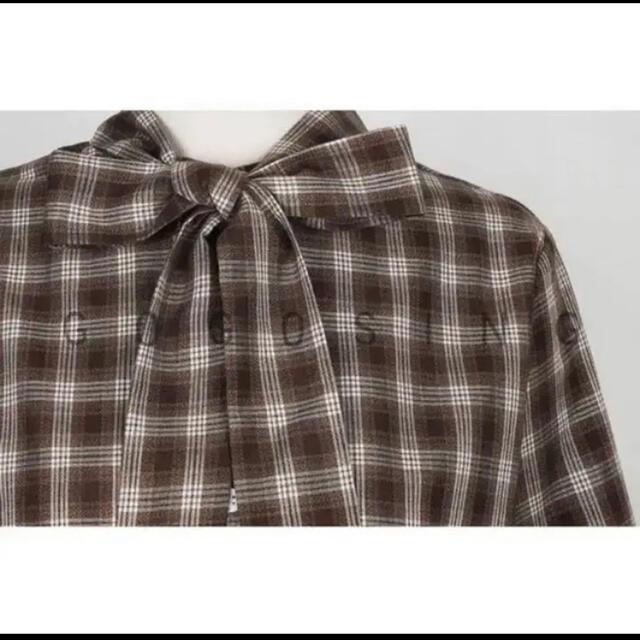 GOGOSING(ゴゴシング)のリボントップス レディースのトップス(シャツ/ブラウス(長袖/七分))の商品写真