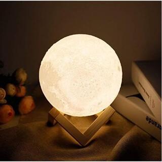 ★即日発送★ 月のランプ 間接照明 8cm 無段階調光 タッチ式 台座付
