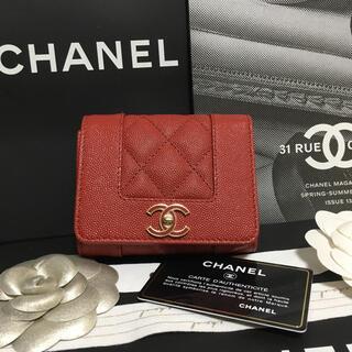 シャネル(CHANEL)の超美品♡ CHANEL シャネル マドモアゼル 三つ折り財布 正規品(財布)