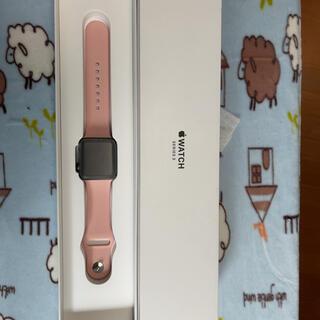 アップルウォッチ(Apple Watch)のApple Watch3 38mm GPS Space Gray(スマートフォン本体)
