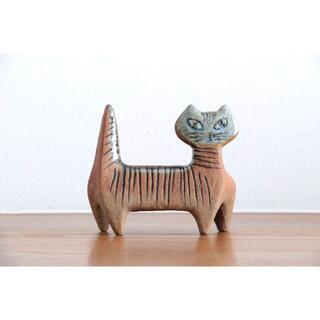 リサラーソン(Lisa Larson)のLisa Larson リサラーソン 小さな動物園 猫(陶芸)