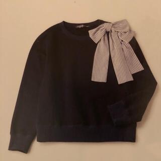 ジェーンマープル(JaneMarple)のジェーンマープル ショルダーリボンスウェットシャツ(トレーナー/スウェット)