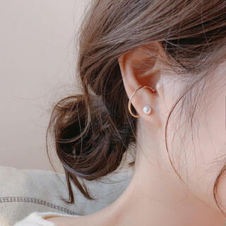 トゥデイフル(TODAYFUL)のear-cuff pearl pierce ◯s925 post(ピアス)