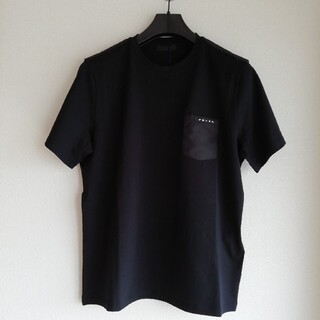 PRADA - 正規店購入 プラダ 胸ポケットロゴ PRADA メンズ TシャツXL 黒