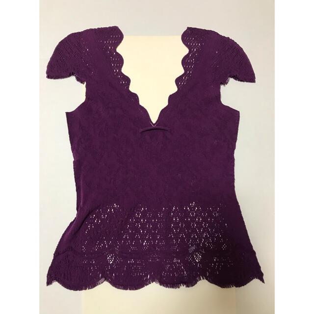 Jean-Paul GAULTIER(ジャンポールゴルチエ)の[美品]バープルストレッチインナー ゴルチエ レディースのトップス(タンクトップ)の商品写真