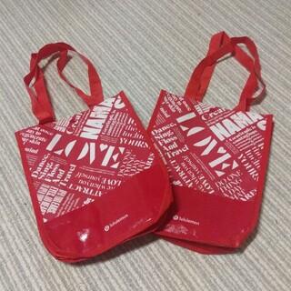 ルルレモン(lululemon)のショップ袋【ルルレモン】赤2点セット(ショップ袋)