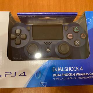 プレイステーション4(PlayStation4)のPS4 純正ワイヤレスコントローラー ミッドナイトブルー 送料無料(その他)