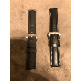 ラバー レザーベルト24ミリ新品未使用セット