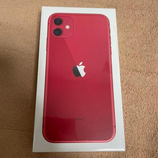 アイフォーン(iPhone)のiPhone 11 Red 64GB(スマートフォン本体)