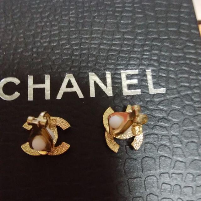 CHANEL(シャネル)の❤千円お値下げ❤CHANELノベルティネックレスとイヤリング(ゴールド×パール) レディースのアクセサリー(イヤリング)の商品写真