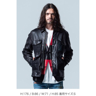 グラム(glamb)の今期・新品/グラム glamb/グランジ系 レザージャケット/黒/M〜Lサイズ(レザージャケット)