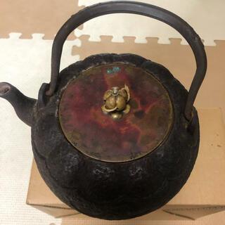 龍文堂造 鉄瓶 急須 蓋が銅製(その他)