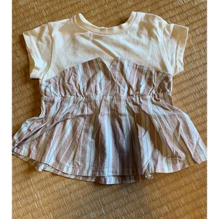 petit main - アプレレクールの半袖Tシャツ