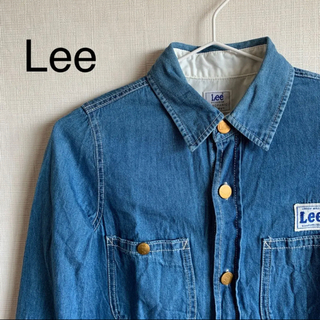 リー(Lee)のLee リー デニムワンピース シャツワンピース S(ひざ丈ワンピース)