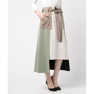 Ameri VINTAGE - Eimee Law ◆ ボンディング配色ステッチタイトスカート