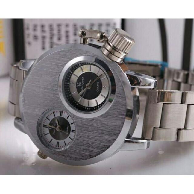 訳あり V6 メンズ腕時計 デュアルムーブメント 金属ベルト メンズウォッチ  メンズの時計(腕時計(アナログ))の商品写真