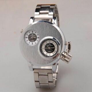 訳あり V6 メンズ腕時計 デュアルムーブメント 金属ベルト メンズウォッチ (腕時計(アナログ))