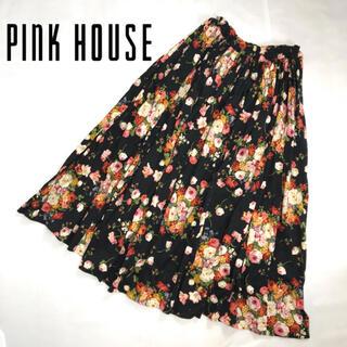 PINK HOUSE - PINK HOUSE ピンクハウス フレア ロングスカート 花柄