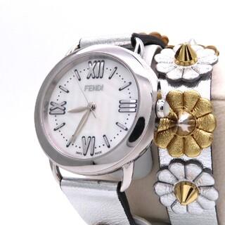 フェンディ(FENDI)の【FENDI】フェンディ 時計 '新型セレリア' 二重巻きブレス ☆極美品☆(腕時計)