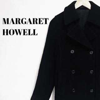 MARGARET HOWELL - ラグジュアリー☆ 上質 マーガレットハウエル ピーコート ブラック レディース