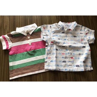 familiar - ファミリア ポロシャツ 総柄シャツ 2枚セット 80 美品