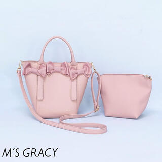 M'S GRACY - 新品 エムズグレイシー 今期リボンバッグ ピンク