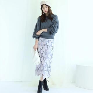 Mystrada - 配色レースタイトスカート