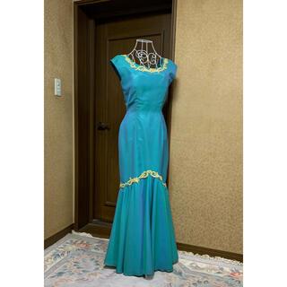 エメ(AIMER)のブルーグリーンドレス 定価5万円(ロングドレス)