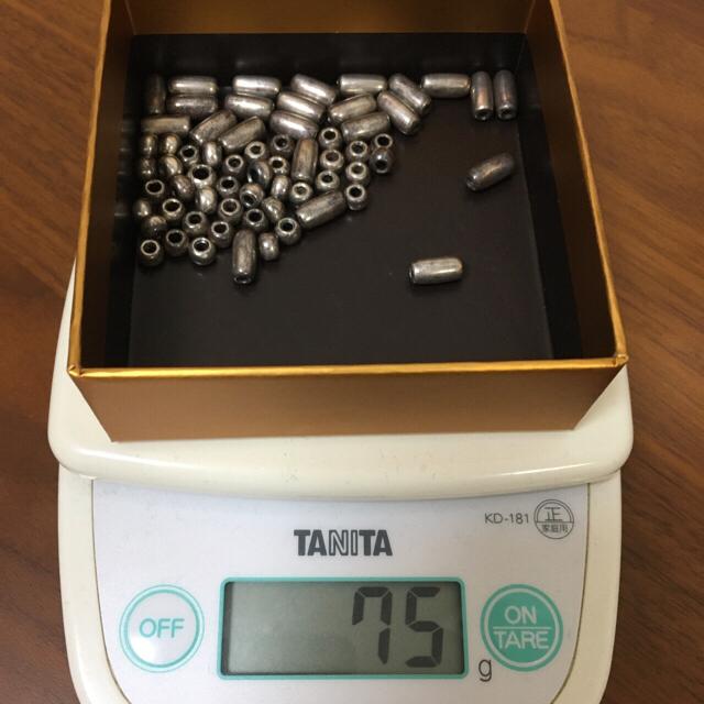 goro's(ゴローズ)のk18  中空ビーズ付きノーブランド  無垢パイプビーズ 無垢ビーズ メンズのアクセサリー(ネックレス)の商品写真