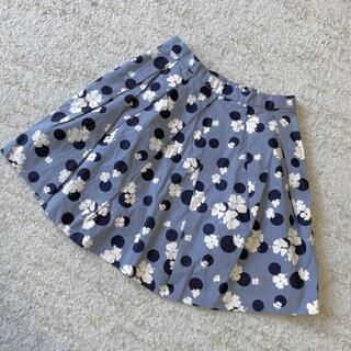 Bonpoint - 綺麗 ボンポワン 花柄スカート ドット柄 清楚系 130